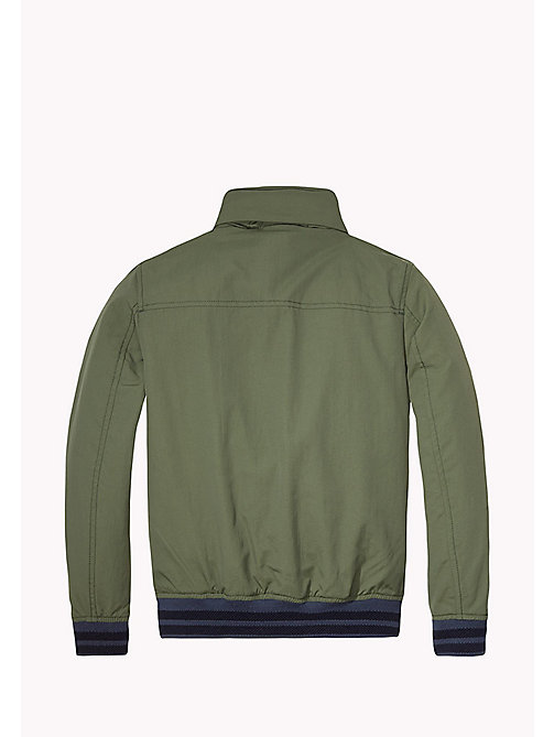 TOMMY HILFIGER Nylon Bomber Jacket - THYME - TOMMY HILFIGER Coats & Jackets - detail image 1
