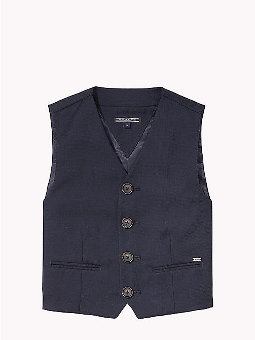 TOMMY HILFIGER Structured Waistcoat - NAVY BLAZER - TOMMY HILFIGER Coats & Jackets - main image