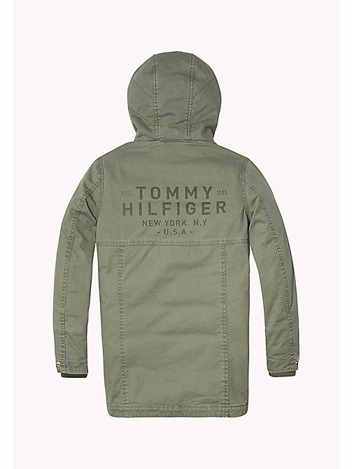 TOMMY HILFIGER 2-in-1 Cotton Parka - THYME - TOMMY HILFIGER Coats & Jackets - detail image 1