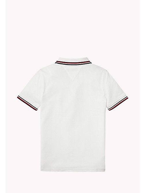 TOMMY HILFIGER Cotton Piqué Badge Polo - BRIGHT WHITE - TOMMY HILFIGER T-shirts & Polos - detail image 1