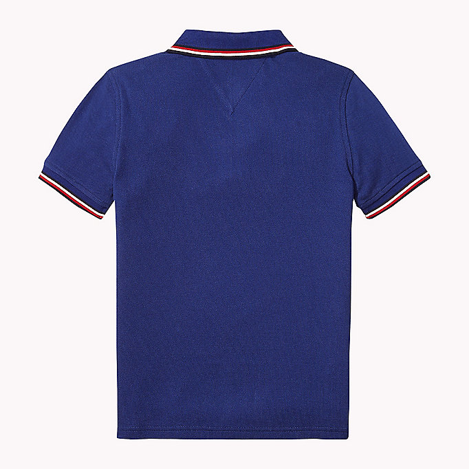 TOMMY HILFIGER Cotton Piqué Badge Polo - BRIGHT WHITE - TOMMY HILFIGER Kids - detail image 1