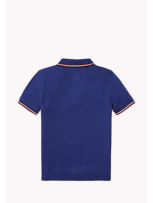 TOMMY HILFIGER Cotton Piqué Badge Polo - BLUE DEPTHS - TOMMY HILFIGER T-shirts & Polos - detail image 1
