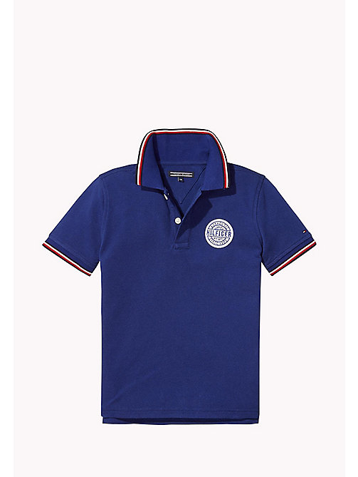 TOMMY HILFIGER Cotton Piqué Badge Polo - BLUE DEPTHS - TOMMY HILFIGER T-shirts & Polos - main image