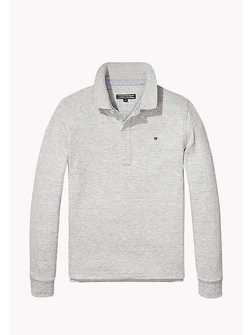 TOMMY HILFIGER Iconic Tommy Long Sleeve Polo - NEW GREY HEATHER B1NAC04 VOL. 46 - TOMMY HILFIGER T-shirts & Polos - main image