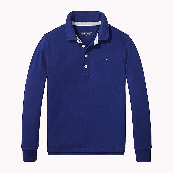 TOMMY HILFIGER Iconic Tommy Long Sleeve Polo - NEW GREY HEATHER B1NAC04 VOL. 46 - TOMMY HILFIGER Kids - main image