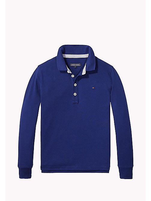 TOMMY HILFIGER Iconic Tommy Long Sleeve Polo - BLUE DEPTHS - TOMMY HILFIGER T-shirts & Polos - main image
