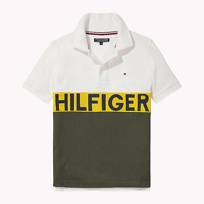 TOMMY HILFIGER Colourblocked Logo Polo - CAMEO BLUE - TOMMY HILFIGER Kids - main image
