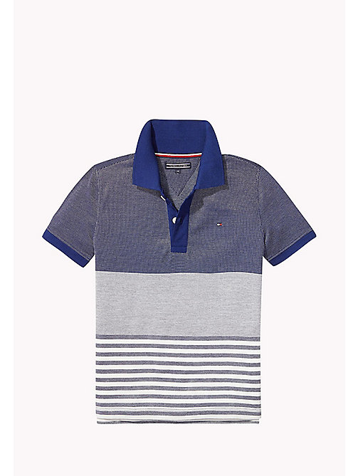 TOMMY HILFIGER Colourblocked polo met structuur - BLUE DEPTHS - TOMMY HILFIGER Jassen & Jacks - main image