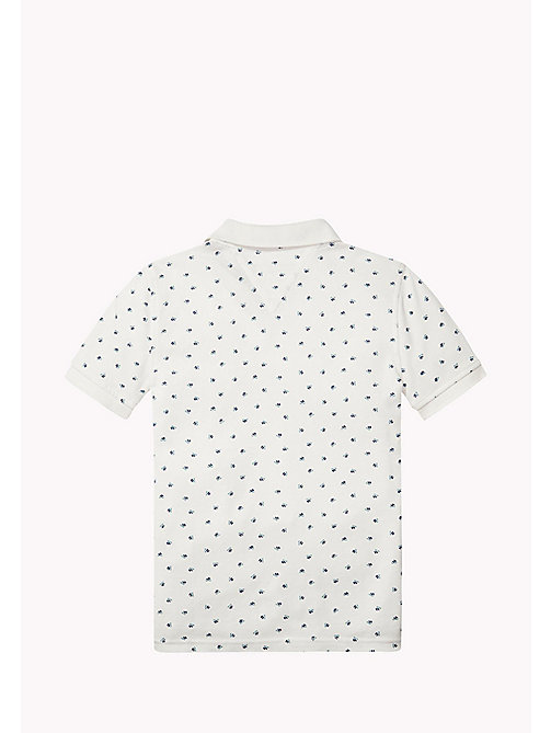 TOMMY HILFIGER Printed Cotton Piqué Polo - BRIGHT WHITE - TOMMY HILFIGER T-shirts & Polos - detail image 1
