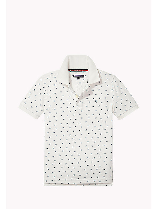 TOMMY HILFIGER Polo in piqué stampato - BRIGHT WHITE - TOMMY HILFIGER T-shirts & Polo - immagine principale