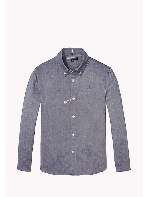 TOMMY HILFIGER AME STRETCH OXFORD SHIRT L/S - BLUE DEPTHS - TOMMY HILFIGER Tops - main image