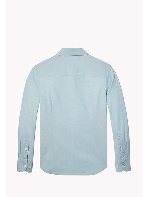 TOMMY HILFIGER AME STRETCH OXFORD SHIRT L/S - CAMEO BLUE - TOMMY HILFIGER Tops - detail image 1