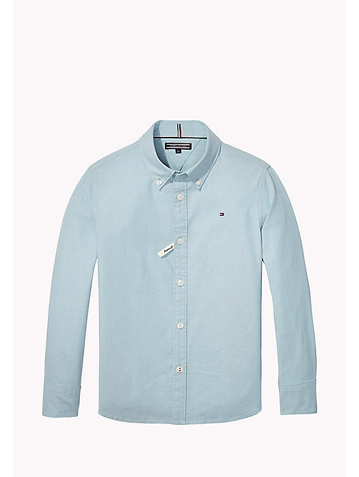 TOMMY HILFIGER AME STRETCH OXFORD SHIRT L/S - CAMEO BLUE - TOMMY HILFIGER Пальто И Куртки - главное изображение