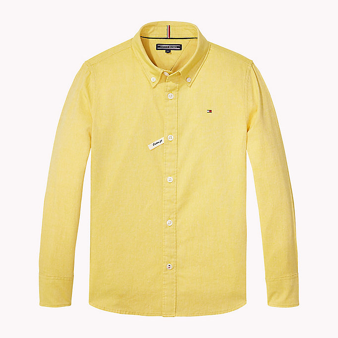TOMMY HILFIGER Oxford Cotton Shirt - CAMEO BLUE - TOMMY HILFIGER Kids - main image