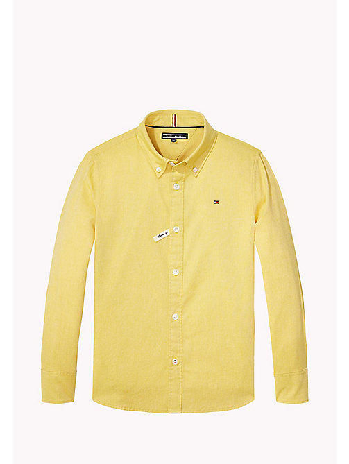 TOMMY HILFIGER Oxford Cotton Shirt - FREESIA - TOMMY HILFIGER Boys - main image