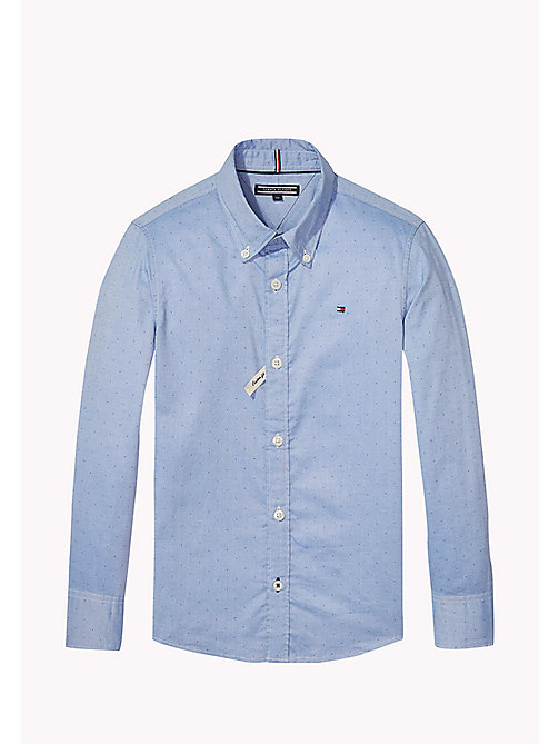 TOMMY HILFIGER Regular Fit Poplin Shirt - BLUE DEPTHS - TOMMY HILFIGER Shirts - main image