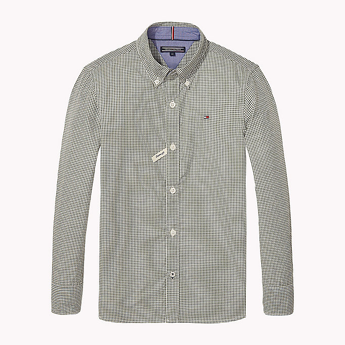TOMMY HILFIGER Gingham Poplin Shirt - BLUE DEPTHS - TOMMY HILFIGER Kids - main image