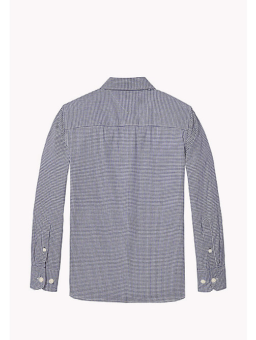 TOMMY HILFIGER Gingham Poplin Shirt - BLUE DEPTHS - TOMMY HILFIGER Boys - detail image 1