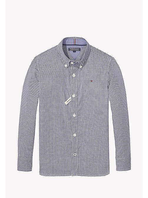TOMMY HILFIGER Gingham Poplin Shirt - BLUE DEPTHS - TOMMY HILFIGER Boys - main image