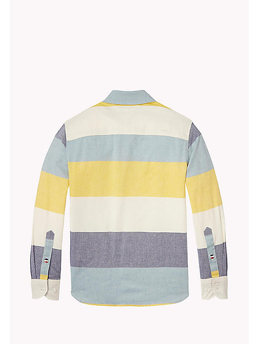 TOMMY HILFIGER Block Stripe Oxford Cotton Shirt - MULTI COLOR - TOMMY HILFIGER Boys - detail image 1