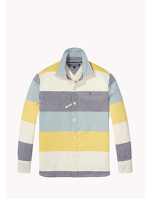 TOMMY HILFIGER Block Stripe Oxford Cotton Shirt - MULTI COLOR - TOMMY HILFIGER Boys - main image