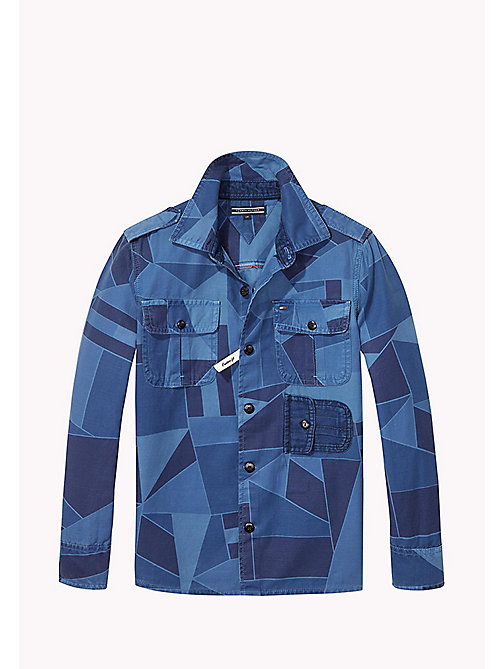 TOMMY HILFIGER Printed Denim Shirt - BLACK IRIS - TOMMY HILFIGER Shirts - main image