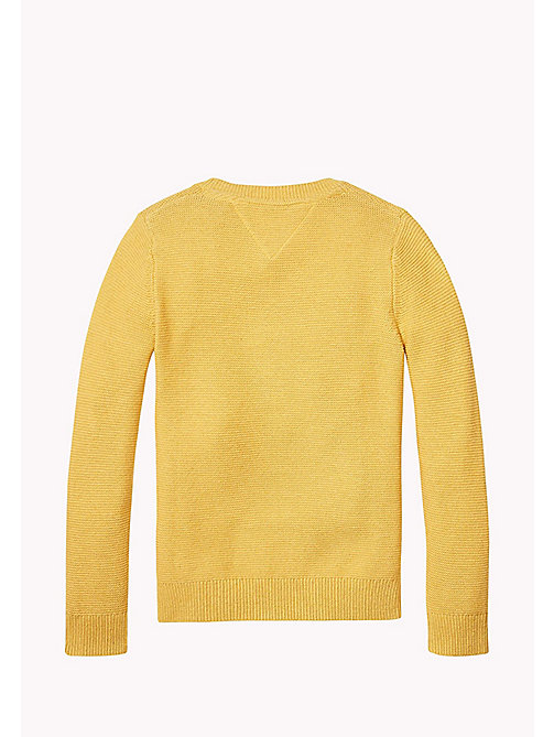 TOMMY HILFIGER Combed Cotton Jumper - GOLDEN GLOW HTR - TOMMY HILFIGER Jumpers & Cardigans - detail image 1
