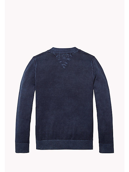 TOMMY HILFIGER Combed Cotton Cardigan - BLACK IRIS - TOMMY HILFIGER Jumpers & Cardigans - detail image 1