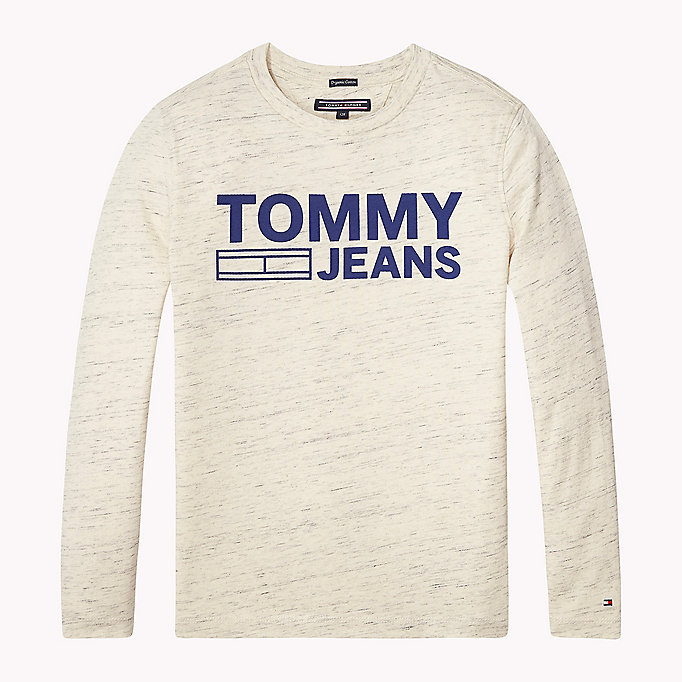 TOMMY HILFIGER Ikonisches Flag-T-Shirt - NEW GREY HEATHER B1NAC04 VOL. 46 - TOMMY HILFIGER Kinder - main image
