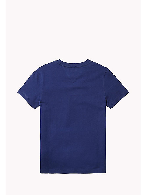 TOMMY HILFIGER T-shirt met iconische vlagprint - BLUE DEPTHS - TOMMY HILFIGER T-shirts & Polo's - detail image 1