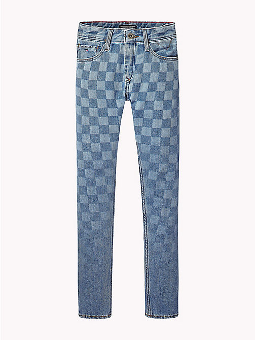 Slim Fit Tapered Jeans - CHECKER BOARD BLUE RIGID - TOMMY HILFIGER Boys - detail image 1