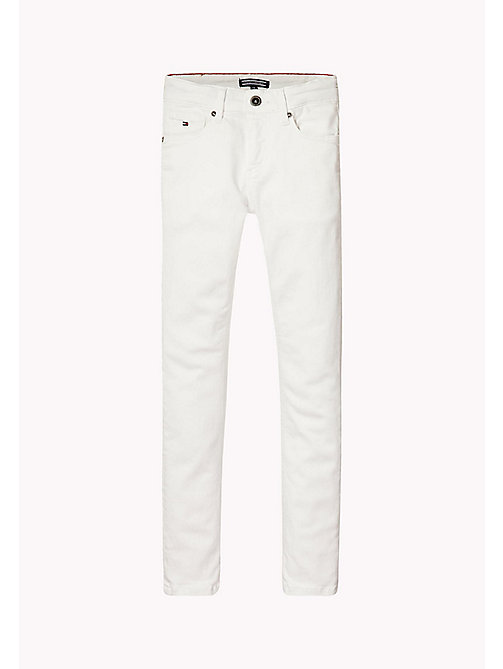 TOMMY HILFIGER Slim fit stretchjeans - BRIGHT WHITE - TOMMY HILFIGER Jeans - main image