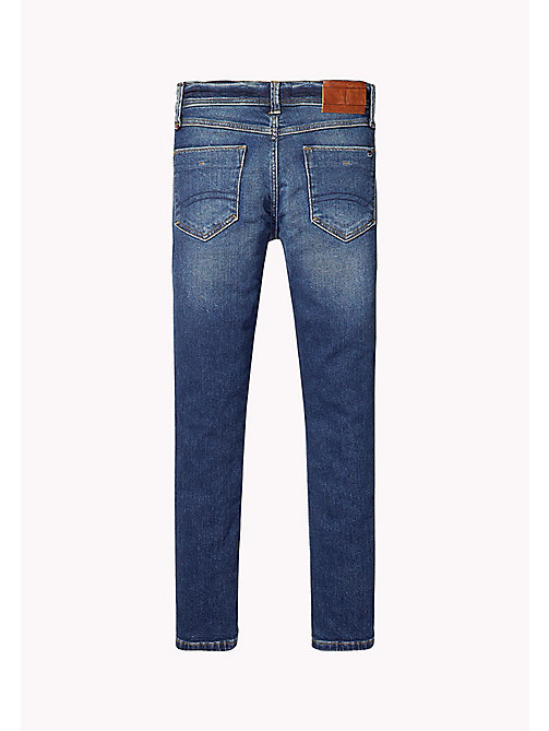 Slim Fit Tapered Jeans - VOLCANO VINTAGE BLUE STRETCH - TOMMY HILFIGER Boys - detail image 1