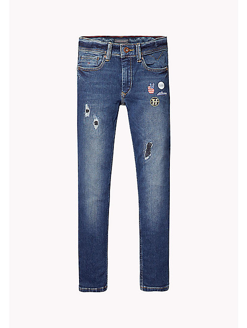 TOMMY HILFIGER Slim Fit Tapered Jeans - VOLCANO VINTAGE BLUE STRETCH - TOMMY HILFIGER Jeans - main image