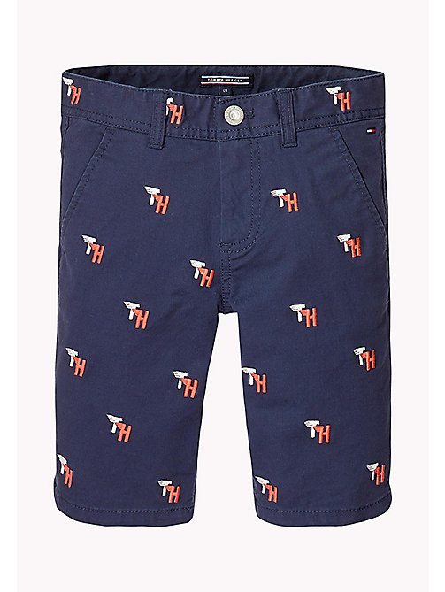 TOMMY HILFIGER Embroidered Chino Shorts - BLACK IRIS - TOMMY HILFIGER Trousers & Shorts - main image