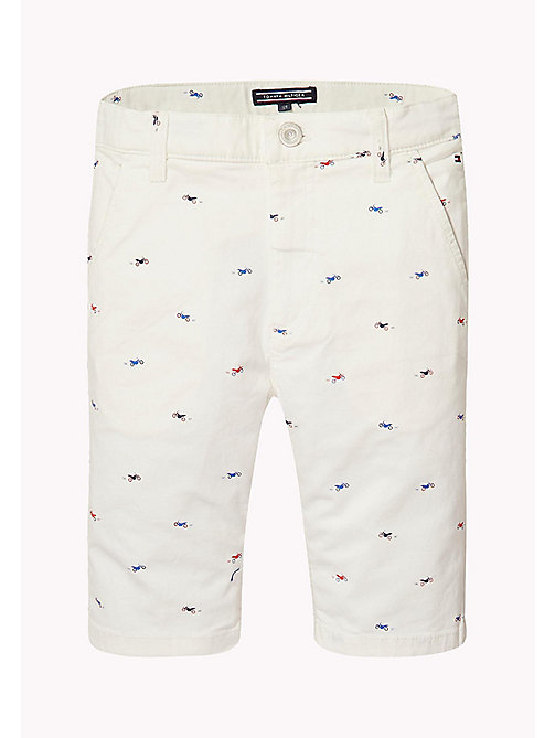 TOMMY HILFIGER Motorbike Print Chino Shorts - BRIGHT WHITE - TOMMY HILFIGER Boys - main image 1