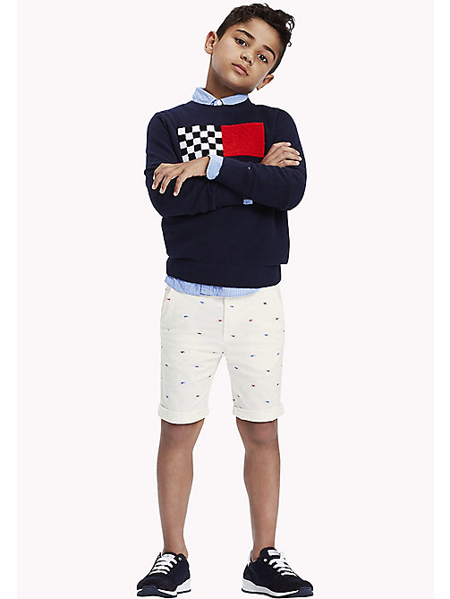 TOMMY HILFIGER Motorbike Print Chino Shorts - BRIGHT WHITE - TOMMY HILFIGER Boys - main image