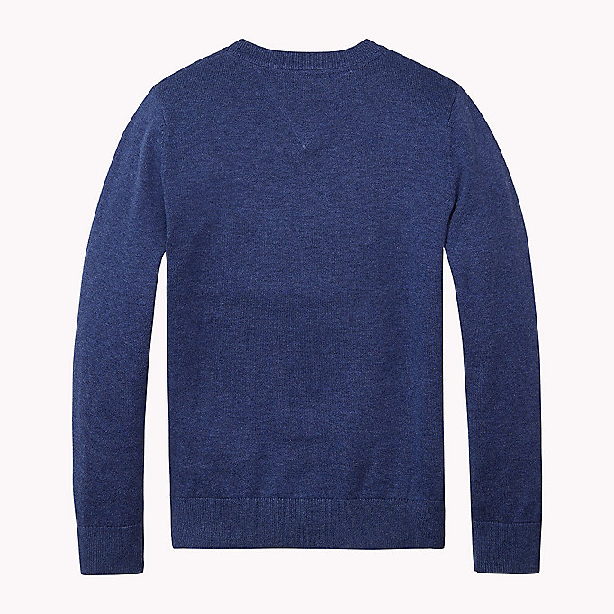 TOMMY HILFIGER Essential V-Neck Jumper - CAMEO BLUE HTR - TOMMY HILFIGER Kids - detail image 1