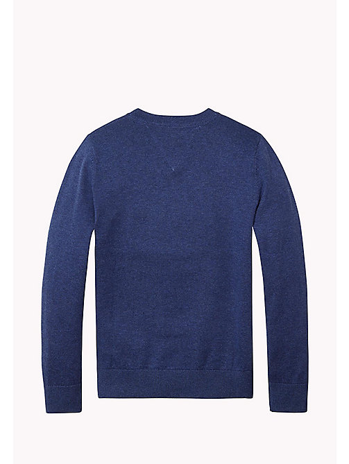 TOMMY HILFIGER Essential V-Neck Jumper - BLUE DEPTHS HTR - TOMMY HILFIGER Jumpers & Cardigans - detail image 1