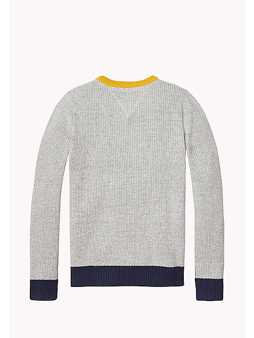 TOMMY HILFIGER Colourblock Jumper - LIGHT GREY HTR - TOMMY HILFIGER Jumpers & Cardigans - detail image 1