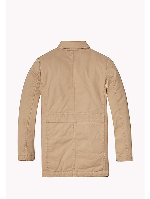TOMMY HILFIGER THKB MAC COAT - BATIQUE KHAKI - TOMMY HILFIGER Coats & Jackets - detail image 1