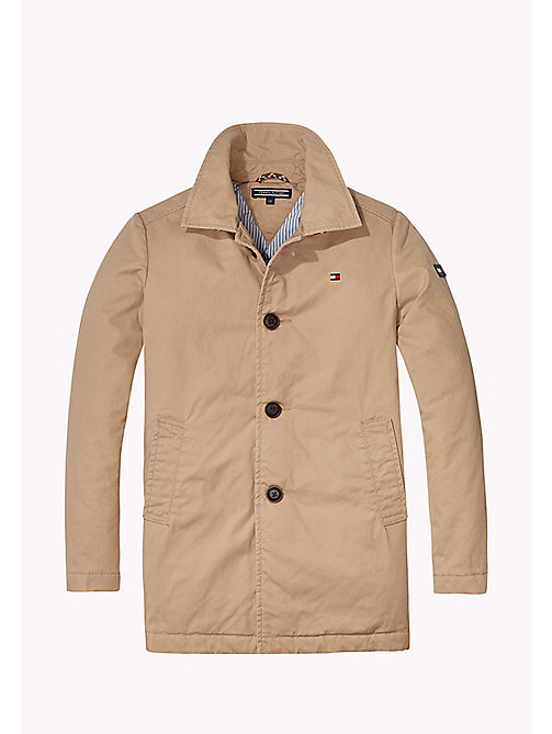 TOMMY HILFIGER THKB MAC COAT - BATIQUE KHAKI - TOMMY HILFIGER Coats & Jackets - main image