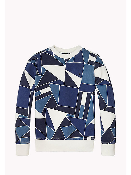 TOMMY HILFIGER Flag Colourblock Sweatshirt - BRIGHT WHITE - TOMMY HILFIGER Boys - main image