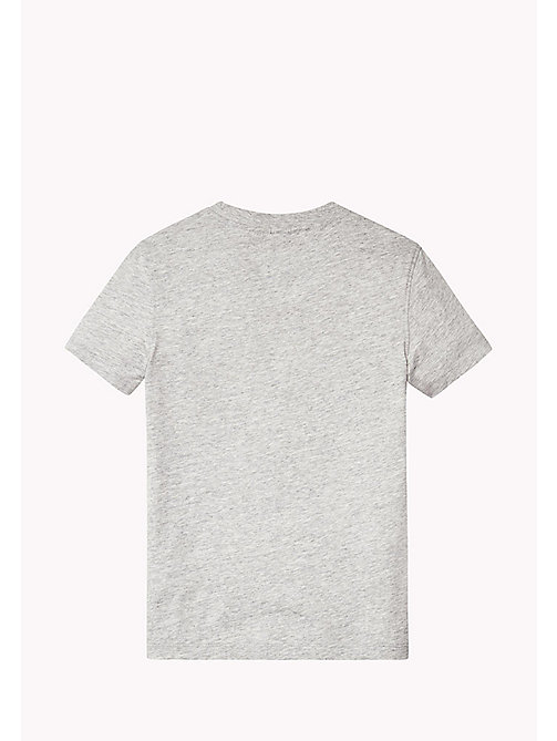 TOMMY HILFIGER Organic Cotton Crew Neck T-Shirt - NEW GREY HEATHER B1NAC04 VOL. 46? - TOMMY HILFIGER T-shirts & Polos - detail image 1
