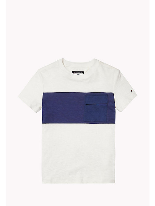 TOMMY HILFIGER POCKET CN TEE S/S - BRIGHT WHITE - TOMMY HILFIGER Tops - main image