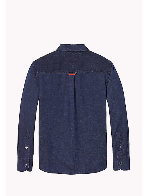 TOMMY HILFIGER Striped Cotton Shirt - MID INDIGO / MULTI - TOMMY HILFIGER Shirts - detail image 1