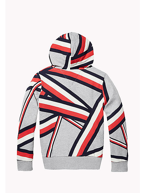 TOMMY HILFIGER SC GLOBAL STRIPE HD HWK L/S - SPORTS GREY HTR - TOMMY HILFIGER Jongens - detail image 1