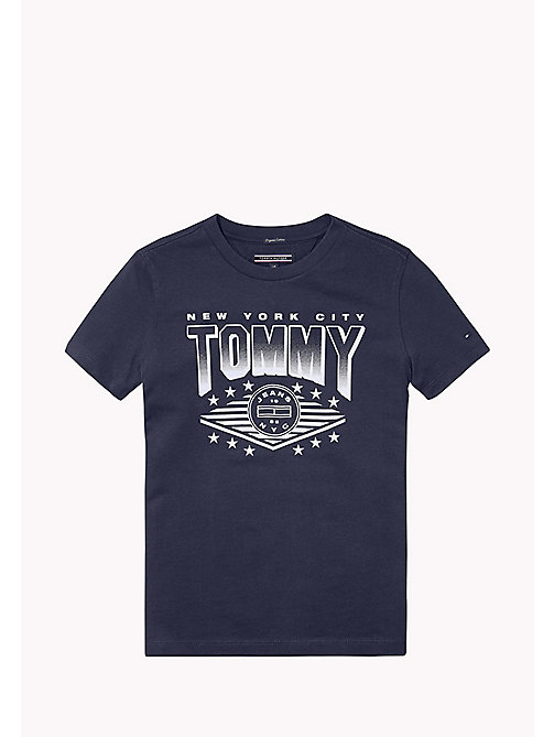 TOMMY HILFIGER AME TOMMY CN TEE S/S - BLACK IRIS? 19-3921 -  Oberteile - main image