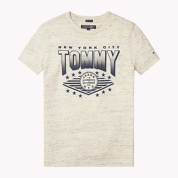 TOMMY HILFIGER Organic Cotton Logo T-Shirt - BLACK IRIS? 19-3921 - TOMMY HILFIGER Kids - main image