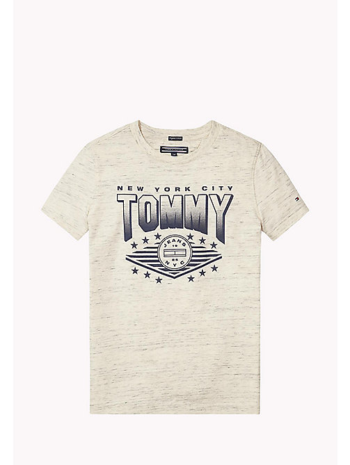 TOMMY HILFIGER AME TOMMY CN TEE S/S - WHITE GREY HEATHER B1D203 VOL. 46? - TOMMY HILFIGER Tops - main image